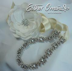 #novias #headpiece #bride tocado AURA y headband de cristales