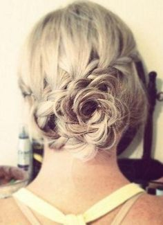 rose braid bun