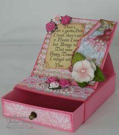 easel card box