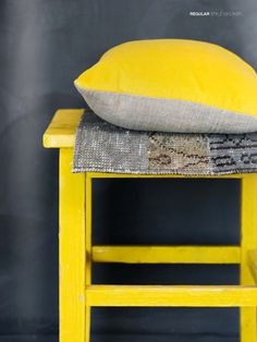 Bright yellow and gray
