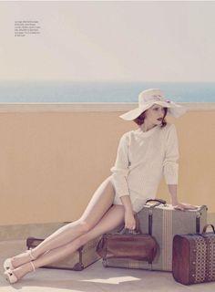 Model: Aibe   Photographer: Standa Merhout - 'Daisy, Daisy' for Harper's Bazaar Arabia, April 2012