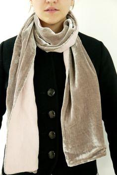 Velvet Linen Scarf  by www.thelinenworks.co.uk