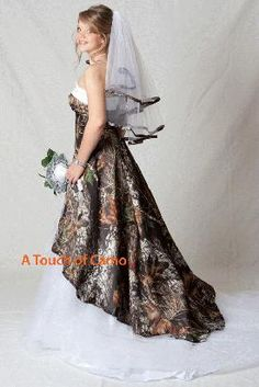 mossy oak camo wedding dresses