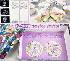 a SWEET gender reveal idea // Momista Beginnings