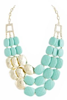Mint & Gold necklace | Southern Charm