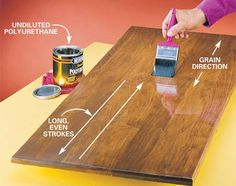 how to apply oil based polyurethane