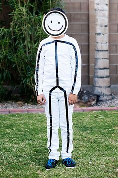 Boys stick figure costume