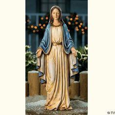 Virgin MARY Blessed Mother Garden Statue lawn sculpture NEW OTC,http://www.amazon.com/dp/B0010SZ15K/ref=cm_sw_r_pi_dp_ZTjjtb044NWCR5V3