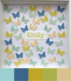 Major DIY factor here... butterfly punch, scrapbook paper, scrapbook stickies, and voila!