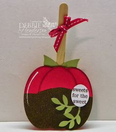 Debbie's Designs: Candy Apple with my Framelits!