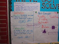 Idea for beginning a study a measurement