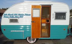 1956 Rainbow Travel Trailer  Restoration by Vintage Trailer Store  www.facebook.com/vintagetrailerstore