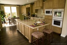 #Kitchen Idea of the Day: Neutral & Bright: Light wood kitchens gallery.