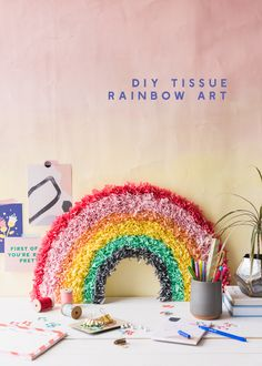 DIY Tissue Paper Rainbow - The House That Lars Built