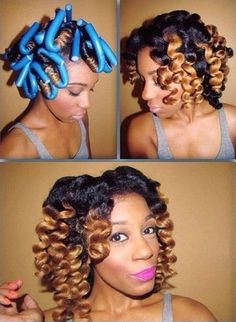 Lovely Flexi Rod Set - http://www.blackhairinformation.com/community/hairstyle-gallery/natural-hairstyles/lovely-flexi-rod-set/ #flexirods #naturalhair #haircolor