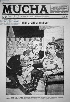 Polish cartoon on the Nazi-Soviet Pact, 1939 (litho)