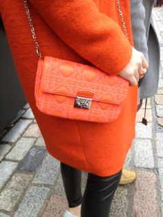 Oh hello orange tweed Dior bag #LFW