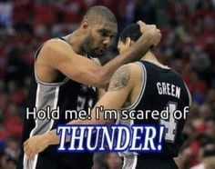 Spurs under the THUNDER