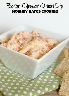 Bacon Cheddar Onion Dip #MiracleWhip #Sponsored #ProudofIt