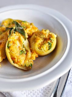 Mel's Kitchen Cafe | Butternut Squash Stuffed Shells with Sage Browned Butter