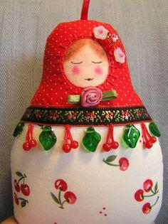 matryoshka fiber doll - ornament