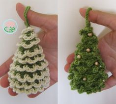 Amigurumi Christmas Trees Ornaments (2 designs)