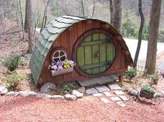 Now this is different ... I believe this is a fairy house - human sized!  ********************************************  BlueRidgeLady - #fairy #garden #gardens #miniature #miniatures #fairies #whimsical #whimsy #house - tå√