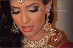 Wedding reception make-up and hair for ever so gorgeous, Syma - checkout more of PurpleHazeArtistry at culturalweddings.com/beauty
