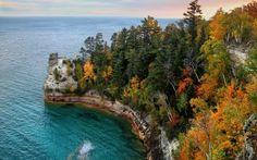 Pictured Rocks, Upper Peninsula. Michigan