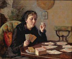 divin, elin kleopatra, card anyon, femal artist, art femm, 1886, kleopatra danielsongambogi, elin danielsongambogi, tarot card