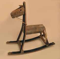 Stil Novo Design | The Rocking Green Horse: made from reclaimed oak from french wine barrels