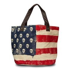 Loungefly American Flag Tote - Bags - Loungefly - Brands
