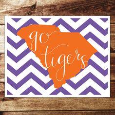 Clemson Go Tigers Print by evannicoledesigns on Etsy, $15.00