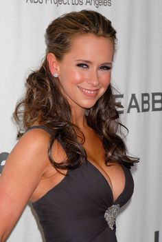 Jennifer Love Hewitt and her wonderful cleavage in a low cut andvtight gray dress
