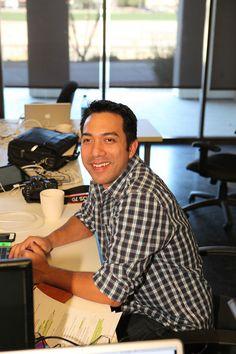 Here's our UX designer/graphic designer Nick.