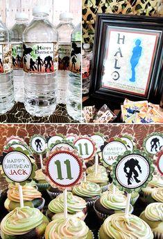 themed birthday parties, halo birthday, halo parti, theme birthday, 1st birthdays