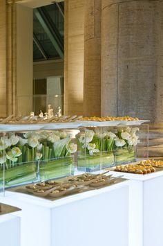 Food table decor LOVE the flowers!!!!