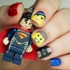 Lego Movie nail art!