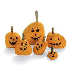 Painted stone pumpkins