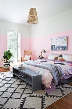 bedroom with pink 3/