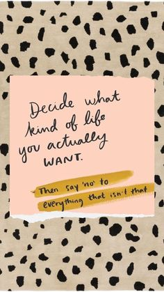Decide what kind of life you actually want then say no to everything that isn't that #dailyinspiration #success #successquotes #dailymotivation #motivation #motivationmonday