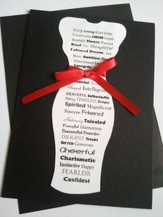 What a great idea for a bachelorette party, bridal shower or just a night out!  Originally posted as a Mothers Day Card.