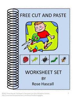 FREE Cut and Paste worksheet set.