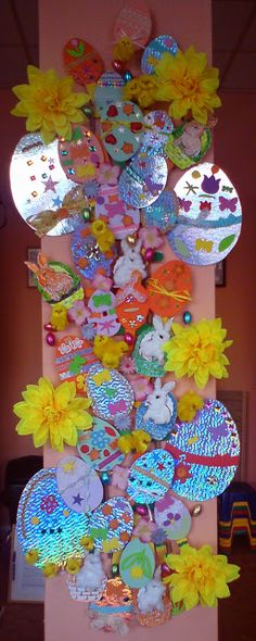 Craft and Other Activities for the Elderly: Our Easter Ladder is Up!