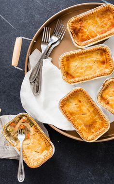Individual Chicken Pot Pies for the Freezer. A key step in making these chicken pot pies freezer-friendly was choosing to use disposable loaf pans, which makes storage and reheating easy, but also allows us to only serve the number of pies we needed. Using this foolproof recipe, these individual chicken pot pies can be frozen for up to one month.