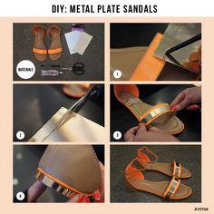 DIY Metal plate sandals