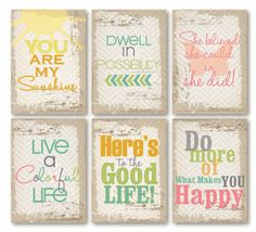 On The Clock Quote ATCs - set of 6