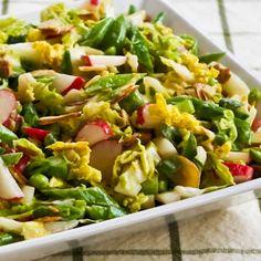 salad, almond, snap pea, sugar snap, food, asian slaw, gluten free, napa cabbag, radish