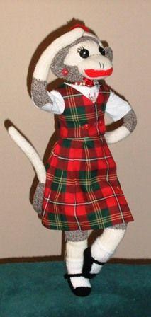 Highland Dancing Sock Monkey :-)
