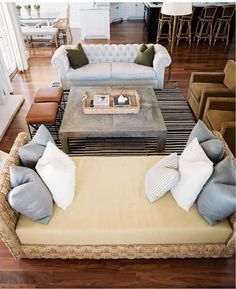 Love the space - comfy furniture  arrangement